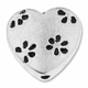 Antiqued Silver 13mm Flower Heart Bead (5PK)