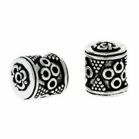 Bali 12 x 9mm Barrel Sterling Silver Bead (1PC)