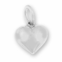 12mm Large Puffed Heart Charm