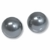 10mm Dark Grey Swarovski 5810 Crystal Pearls (1PC)