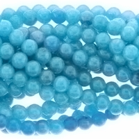 Turquoise Candy Jade 6mm Beads 16 inch Strand