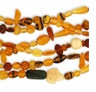 Czech Glass Busy Bee Topaz Bead Mix (1 strand)