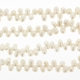 White 3-4mm  Top Drilled Rice Freshwater Pearl Strand