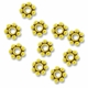 Antiqued Gold Daisy Spacer Beads 4mm (10PK)