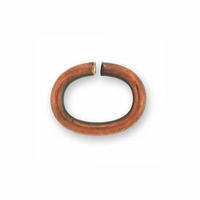 Copper Plated Medium Oval Jump Ring (10PK)