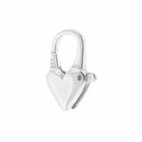 12mm Sterling Silver Heart Clasp (1PC)