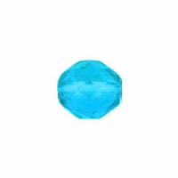 4mm Teal Czech Fire Polished Round Glass Beads (50PK)