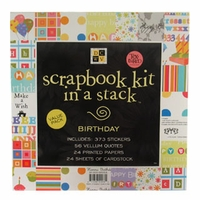 Scrapbook Kit in a Stack - Birthday