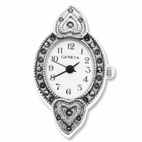Marcasite Hearts Watch Face