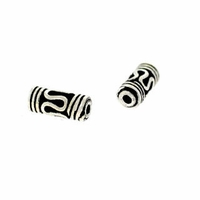 10 x 3mm Bali Style Tube Sterling Silver Bead (1PC)