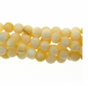China Mother of Pearl Cream 6mm Round Beads 16 inch Strand