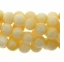 China Mother of Pearl Cream 8mm Round Beads 16 inch Strand