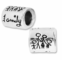 MIOVI™ Sterling Silver Large Hole FAMILY 8x8.5mm Family Bead (1PC)