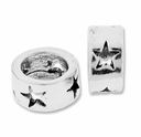MIOVI™ Sterling Silver Large Hole Star Rondelle Bead