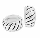 MIOVI™ Sterling Silver Large Hole Spacer Rondelle Fancy Bead