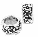 MIOVI™ Sterling Silver Large Hole Spacer Flower Bead