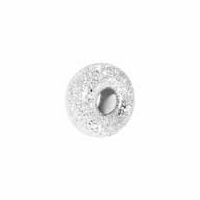 5mm Sterling Silver Stardust Rondelle Bead (1PC)