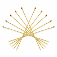 Gold Plated 2 Inch Ball End 21GA Head Pin (100PK)