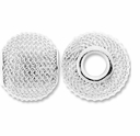 MIOVI� Silver Plated Large Hole 16x13mm Mesh Bead (1PC)