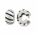 MIOVI� Silver Antiqued 10mm Corrugated Drum Bead Stopper (1PC)