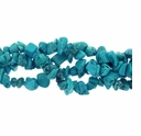 Lt Blue Turquoise 5-8mm Bead Chips 36 Inch Strand