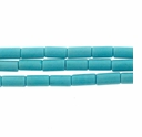 3x6mm Tube Turquoise Beads 16 Inch