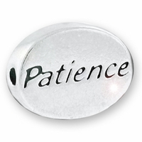 Patience Sterling Silver Message Bead