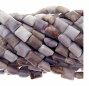 Lavender Agate 12x10mm Puff Square Beads 16 Inch Strand