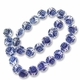 Decorative Blue 15mm Flat Round Shell Beads 16 Inch Strand