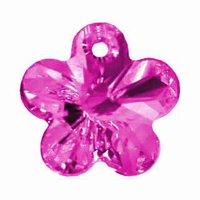 Swarovski 12mm Fuchsia 6744 Flower Crystal Pendants