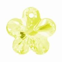 Swarovski 12mm Jonquil 6744 Flower Crystal Pendants