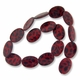 Black Spots on Red 25mm Flat Oval Shell Beads 15.5 Inch Strand