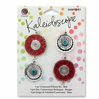 Kaleidoscope Charm and Link 4pc Set - Red