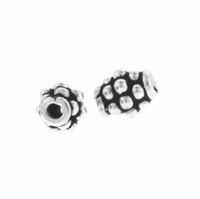 5 x 4mm Bali Spacer Beads Sterling Silver Bead (1PC)