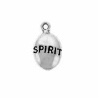 Shiny Spirit Drop Sterling Silver Charm