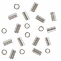 3mm x 2mm Sterling Silver Crimp Tube (10PK)