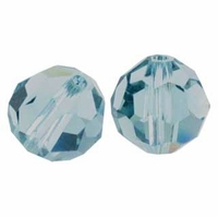 Indian Sapphire Swarovski 5000 6mm Crystal Beads (10PK)