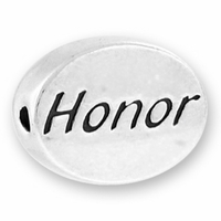 Honor Sterling Silver Message Bead