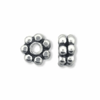 Double 5mm Sterling Silver Daisy Spacer Bead (1PC)