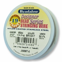 "Beadalon 19 strand .012"" 30ft"