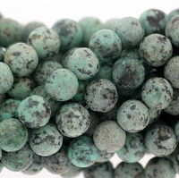 African Turquoise 6mm Round Beads 16 inch Strand