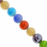 Multi Color 14mm Swirl Lampwork Beads 16-Inch Strand