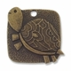 Antiqued Brass Turtle Charm (2PK)