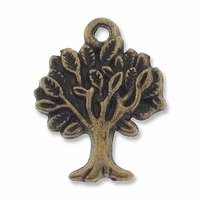 Antiqued Brass Tree of Life Charm (10PK)