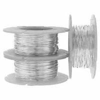 "Sterling Silver  Round Wire 26 Gauge (.016"") Half Hard - 1oz (approx. 76ft)"