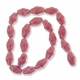 Porcelain Beads, dark pink, 20x12mm-21x13mm textured oval  (15 inch strand)