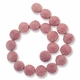 Porcelain Beads, pink, 20-22mm textured puffed flat round  (15 inch strand)