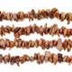 Copper 5-6mm Keshi Side Drilled Freshwater Pearl Strand
