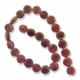 Porcelain Beads, red and yellow, 15mm flat round. (16 inch strand)