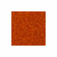 Translucent Orange Seed Bead size 11/0